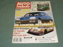 AUTO HEBDO 1989 June 28 (#682) Jag XJR11,Mini at 30,309 GTi